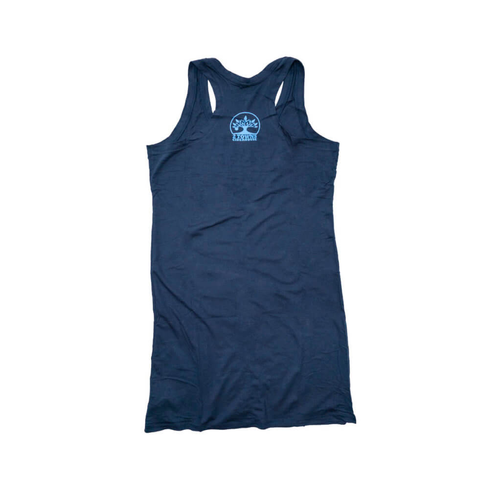 Blue Shirt Dress Back