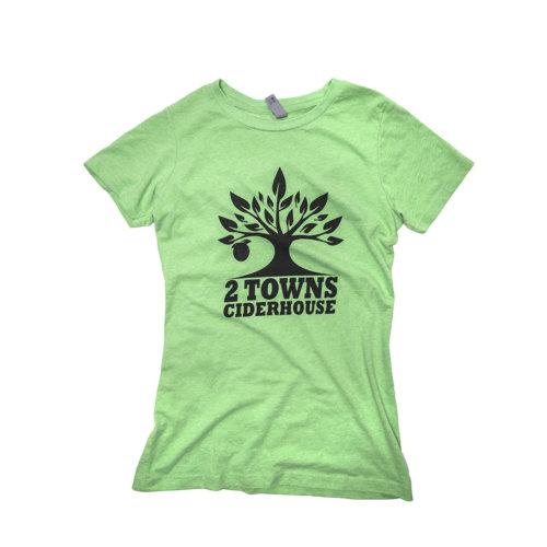 Green T-shirt front