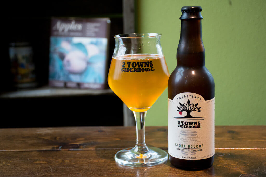 2 Towns Ciderhouse: 2016 Vintage Cidre Bouché – French Style Keeved Cider