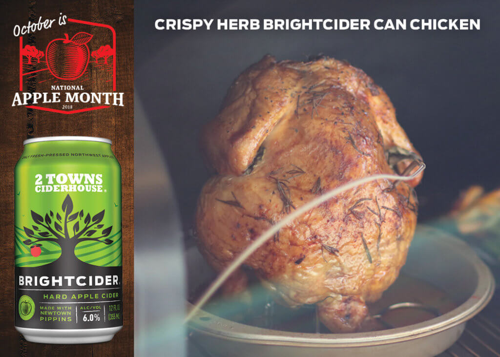 Crispy Herb Brightcider Can Chicken