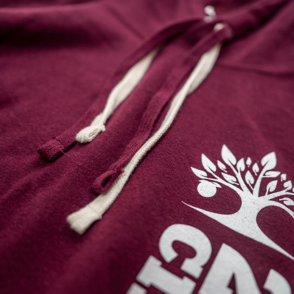 Maroon Sweater Detail