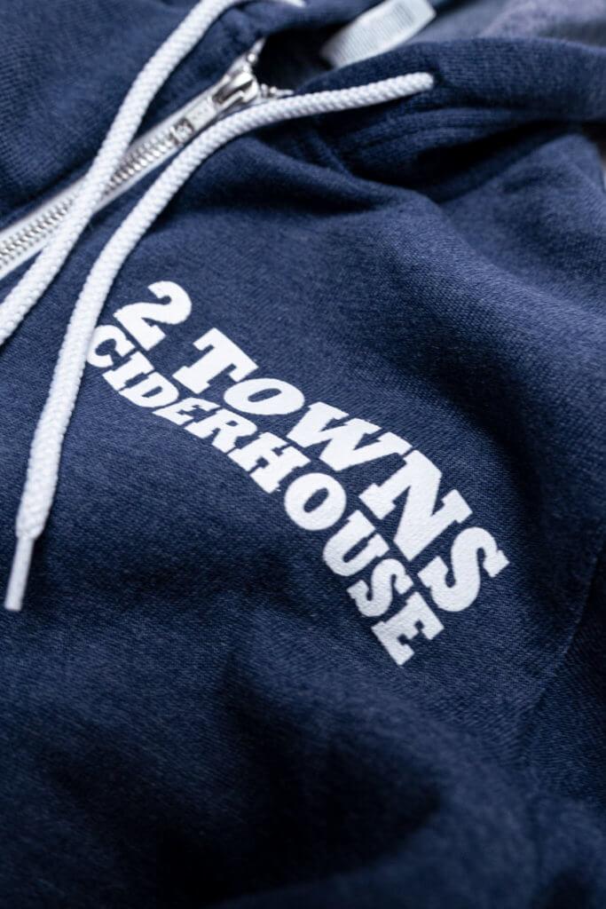 Detail 2 blue hoodie